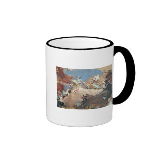 Apollo in his Sun Chariot driving Beatrice I Ringer Coffee Mug