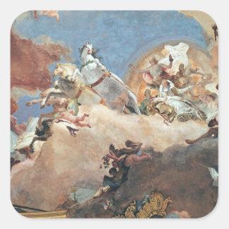 Apollo in his Sun Chariot driving Beatrice I Square Sticker