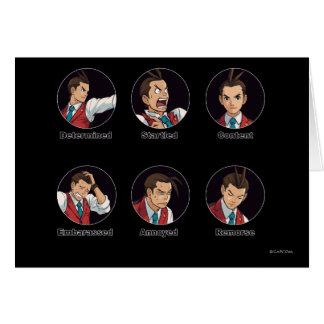 Apollo Justice Emoticons Card