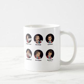 Apollo Justice Emoticons Classic White Coffee Mug