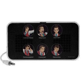 Apollo Justice Emoticons iPod Speaker