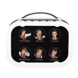 Apollo Justice Emoticons Lunch Box
