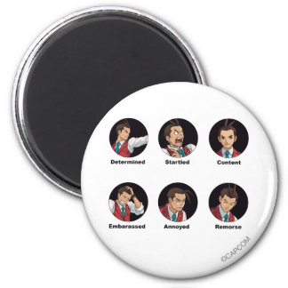 Apollo Justice Emoticons Magnet