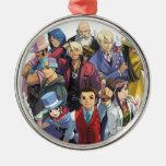 Apollo Justice Key Art Christmas Ornaments