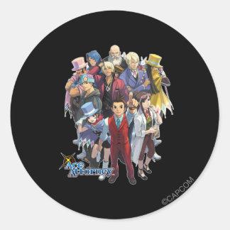 Apollo Justice Key Art Classic Round Sticker