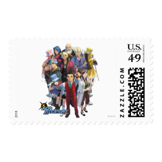 Apollo Justice Key Art Postage Stamps