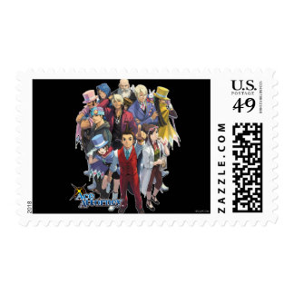 Apollo Justice Key Art Postage Stamp