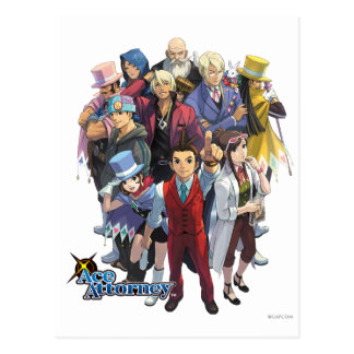 Apollo Justice Key Art Postcard
