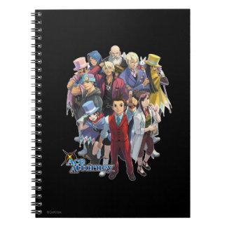 Apollo Justice Key Art Spiral Notebook