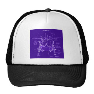 Apollo Lunar Module Blueprints Mesh Hats