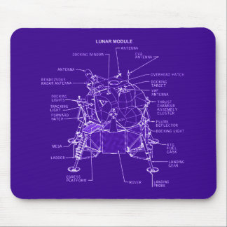 Apollo Lunar Module Blueprints Mouse Pad