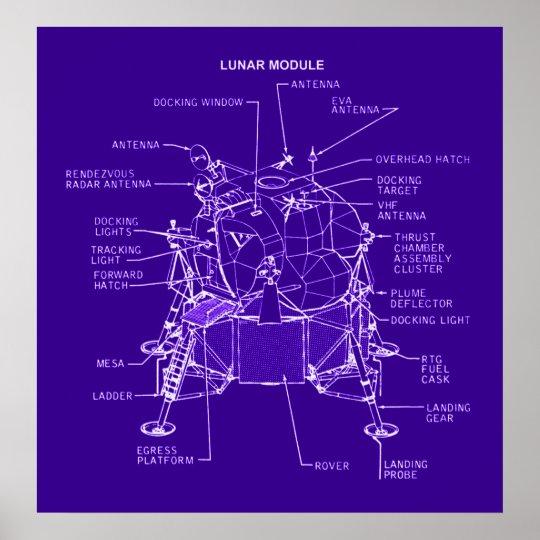 Apollo Lunar Module Blueprints Poster
