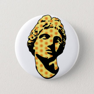 Apollo marble statue pinback button