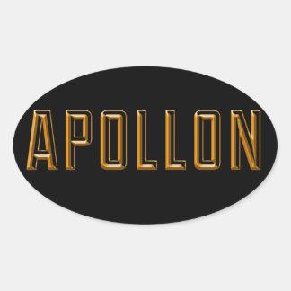 Apollo Oval Sticker
