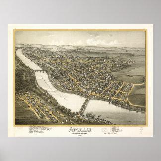 Apollo Pennsylvania 1896 Antique Panoramic Map Poster