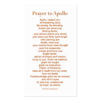 Apollo Prayer Card Business Card