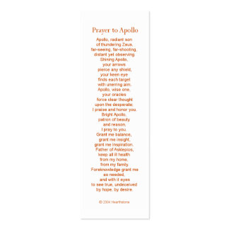 Apollo Prayer Card Mini Business Card