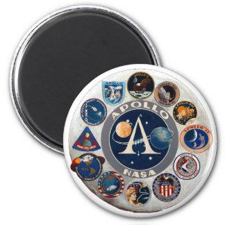 Apollo Program Commemorative Logo 2 Inch Round Magnet