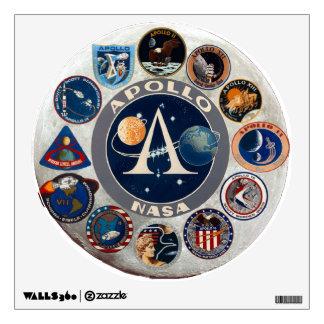 Apollo Program Commemorative Logo Wall Decal