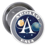 Apollo Program Logo 3 Inch Round Button
