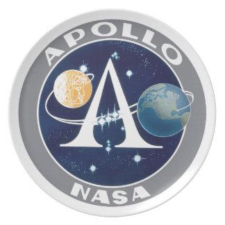 Apollo Program Logo Dinner Plate