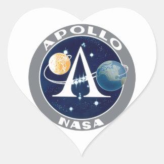 Apollo Program Logo Heart Sticker