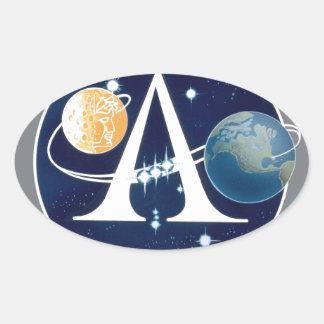 Apollo Program Logo Oval Sticker