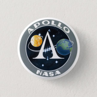 Apollo Program Mission Patch Button