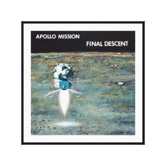 Apollo Program - Moon Mission Artist Concept Canvas Print