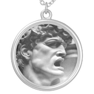 Apollo Round Silver Necklace