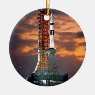 Apollo-Soyuz Launch Vehicle Ceramic Ornament