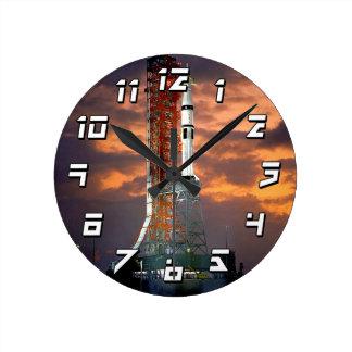 Apollo-Soyuz Launch Vehicle Round Clock