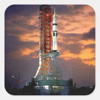 Apollo-Soyuz Launch Vehicle Square Sticker
