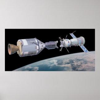 Apollo Soyuz Test Dock Program Print