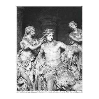 Apollo tended by nymphs in the grove of the canvas print