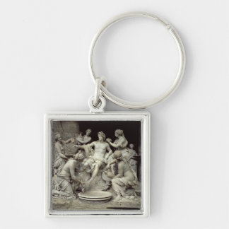 Apollo Tended by the Nymphs, intended for the Grot Silver-Colored Square Keychain