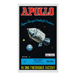 Apollo (Vintage Chinese Firecracker) Poster