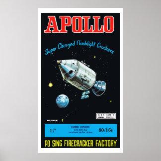 Apollo Vintage Chinese Firecracker Print