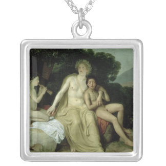Apollo with Hyacinthus and Cyparissus Silver Plated Necklace