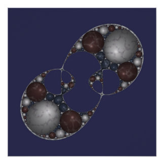 Apollonian Marble Mitosis Poster