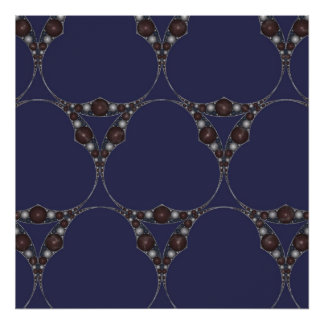 Apollonian Marble Screen I Poster