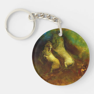 Apollo's Chariot by Odilon Redon Keychain