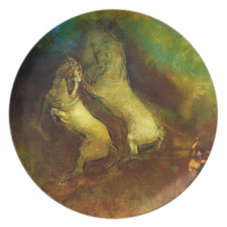 Apollo's Chariot by Odilon Redon Party Plate
