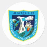 Apolo 10:  ¡A la luna otra vez! Etiquetas Redondas