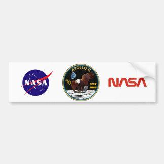 Apolo 11: 40.o Logotipo del aniversario Pegatina Para Auto