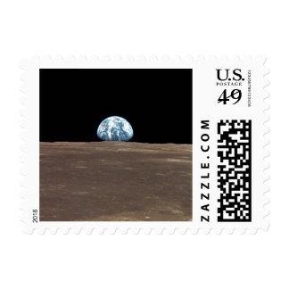 APOLO 11 EARTHRISE (Sistema Solar) de la luna de Estampilla