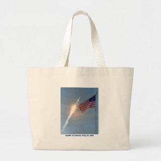 Apolo 11 lanzamiento 16 de julio de 1969 bolsa tela grande