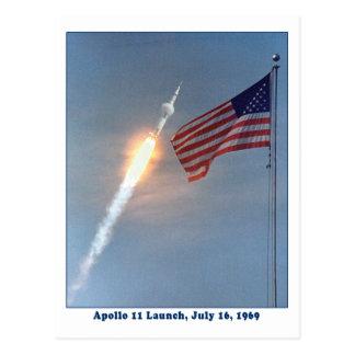 Apolo 11 lanzamiento 16 de julio de 1969 postales