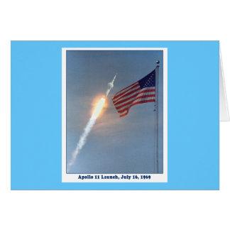 Apolo 11 lanzamiento 16 de julio de 1969 tarjeta de felicitación