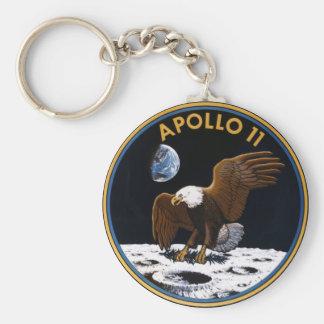 Apolo 11 llavero redondo tipo pin